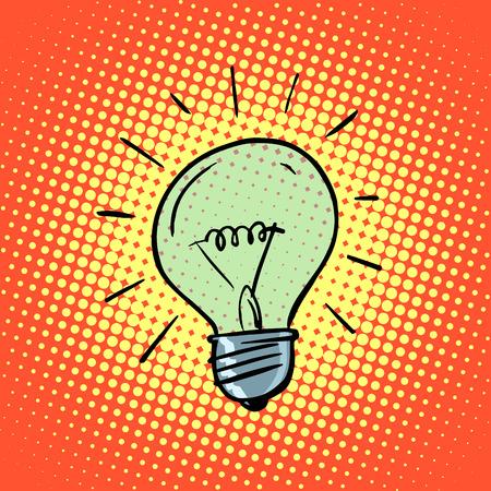 44238330 - light bulb electricity symbol ideas retro style pop art